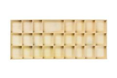 Partition wood box Royalty Free Stock Photos