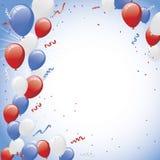 Partito bianco rosso dell'aerostato di celebrazione dell'aerostato Immagine Stock