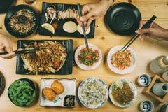 Partito con stile giapponese dell'alimento fotografia stock libera da diritti