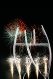 Partito dei fuochi d'artificio Fotografie Stock