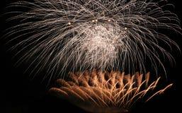Partito dei fuochi d'artificio Fotografia Stock