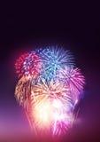 Partito dei fuochi d'artificio Fotografie Stock Libere da Diritti