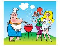 Partito del barbecue Immagine Stock Libera da Diritti