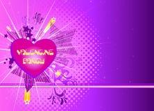 Partito del biglietto di S. Valentino Immagine Stock