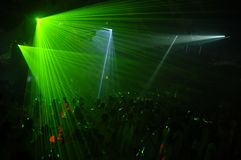 Partito del laser Fotografia Stock