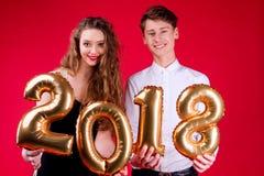 Partito 2018 del ` s dell'amico del nuovo anno immagini stock libere da diritti