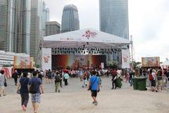 partito della HK Dragon Boat Carnival Immagini Stock Libere da Diritti