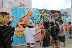 partito della HK Dragon Boat Carnival Fotografie Stock Libere da Diritti