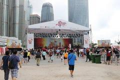 partito della HK Dragon Boat Carnival Immagine Stock Libera da Diritti