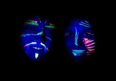 Partito della luce UV Fotografie Stock