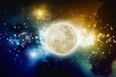 Partito della luna piena Fotografia Stock Libera da Diritti