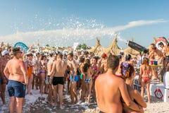Partito della schiuma della spiaggia Fotografia Stock