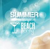 Partito della spiaggia di estate Immagini Stock