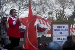 PARTITO DEMOCRATICO INDONESIANO DEL PROFILO DI LOTTA Fotografia Stock Libera da Diritti
