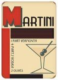 Partito di Art Deco Sytle Vintage Retro del manifesto di Martini immagine stock libera da diritti