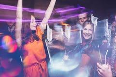Partito di ballo del buon anno nel moto fotografie stock libere da diritti