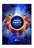 Partito di ballo disco Manifesto, aletta di filatoio Fotografia Stock Libera da Diritti