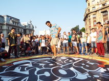 Partito di blocco nel quadrato di Universitatii a Bucarest, Romania Immagine Stock Libera da Diritti