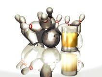 Partito di bowling Fotografia Stock