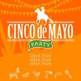 Partito di Cinco de Mayo royalty illustrazione gratis
