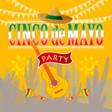 Partito di Cinco de Mayo royalty illustrazione gratis