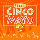Partito di Cinco de Mayo illustrazione di stock
