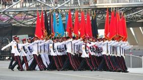 Partito di colori che marcia a NDP 2011 Immagine Stock