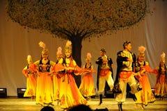 Partito di concerto di graduazione della classe di dancing di Uygur dance-2011 dello Xinjiang Fotografie Stock Libere da Diritti