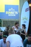 Partito di Corona Sunsets Session a Zagabria, Croazia Fotografia Stock Libera da Diritti