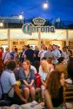 Partito di Corona Sunsets Session a Zagabria, Croazia Immagini Stock Libere da Diritti