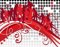 Partito di discoteca Funky Fotografia Stock
