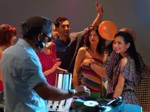 Partito di divertimento della gente del DJ Immagini Stock
