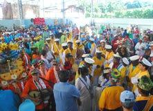 Partito di Folia de Reis Folk nel Brasile fotografia stock libera da diritti