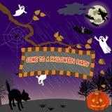 Partito di Halloween. Fotografie Stock