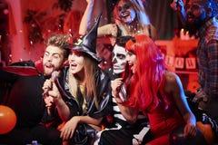 Partito di Halloween Fotografia Stock Libera da Diritti