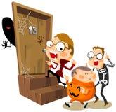 Partito di Halloween con il costume Fotografia Stock