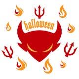 Partito di Halloween - diavolo Fotografie Stock Libere da Diritti