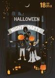 Partito di Halloween Illustrazione di vettore fotografia stock