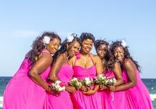 Partito di matrimonio di Jay e di Juliet alla spiaggia del sud Immagine Stock Libera da Diritti