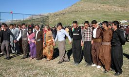 Partito di Newroz fotografie stock libere da diritti
