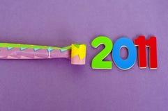 Partito di nuovo anno 2011 Fotografia Stock