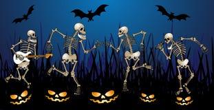 Partito di scheletro Fotografie Stock