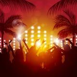 Partito di sera tropicale Fotografia Stock