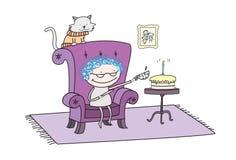 Partito di tè di compleanno di Grandmotherâs Immagine Stock
