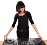 Partito DJ della ragazza Fotografia Stock Libera da Diritti