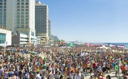 Partito gaio di orgoglio di Tel Aviv Fotografia Stock