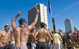 Partito gaio di orgoglio di Tel Aviv Fotografia Stock Libera da Diritti