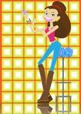 Partito girl01 Immagini Stock