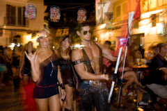 Partito in Ibiza (Spagna) Immagini Stock