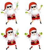 Partito il Babbo Natale Martini Fotografie Stock Libere da Diritti